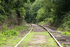 Free Railroad Tracks Royalty Free Stock Image - 5731296