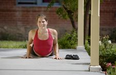 Free Yoga On The Porch Royalty Free Stock Photos - 5731388