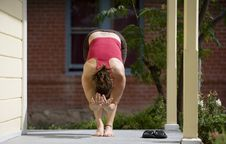 Yoga On The Porch Stock Photos