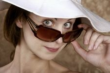 Free Woman With Sunglasses Stock Image - 5731441