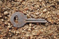 Key On The Sand Stock Images