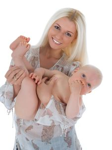 Free Happy Mother With Baby Royalty Free Stock Image - 5732116