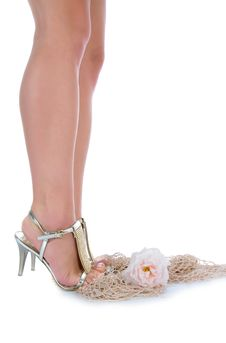 Long Legs On High Heels Stock Photo