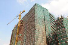 The Edifice Under Construction Stock Photo