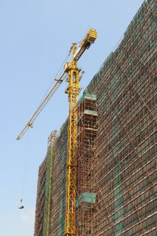 Free The Construction Site With Crane Royalty Free Stock Photography - 5732197