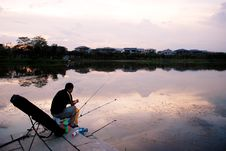 Free Angling In The Sunset Royalty Free Stock Photo - 5732565