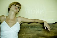 Free Woman In Bench Royalty Free Stock Photos - 5732848
