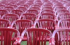 Audience Red Chairs Royalty Free Stock Photography
