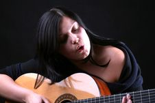 Free Guitar Player Royalty Free Stock Photography - 5734077