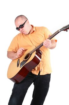 Free Plays On The Classic Guitar Royalty Free Stock Photos - 5734138