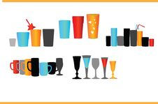 Free Vector Collection Dishware Royalty Free Stock Photos - 5734468