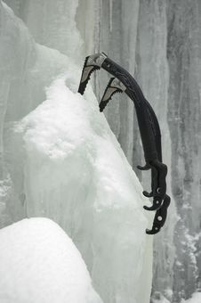 Free Taking A Break From Ice Climbing Royalty Free Stock Images - 5734689