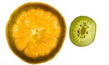Free Orange And Kiwi Royalty Free Stock Photo - 5734805