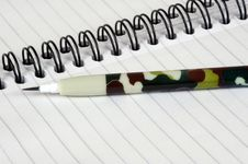 Free Camouflaged Pencil. Stock Images - 5736024