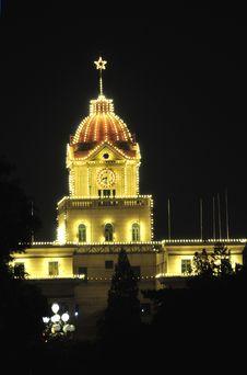 Free Night Scene Of Old Building Stock Image - 5736041