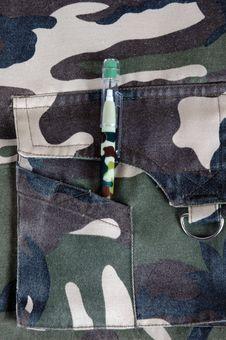 Free Army Pencil Royalty Free Stock Photo - 5736055
