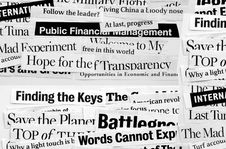 Free New Paper Headlines Royalty Free Stock Image - 5737486