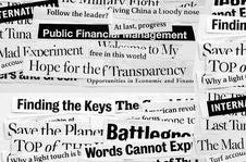 New Paper Headlines Royalty Free Stock Image