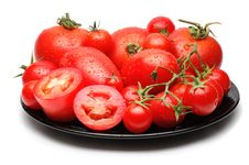 Free Mixed Tomatoes On Black Dish Royalty Free Stock Photos - 5737718