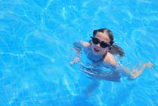 Free Young Girl In Swimming Pool Stock Images - 5737914