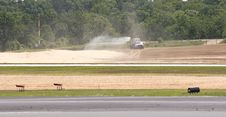 Water Truck By Runway Stock Photography