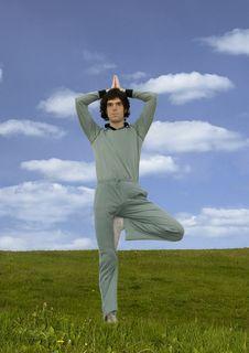 Free Yogi Man Standing Stock Image - 5739291