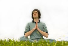 Free A Man Sitting In The Lotus Posture Stock Photos - 5739303