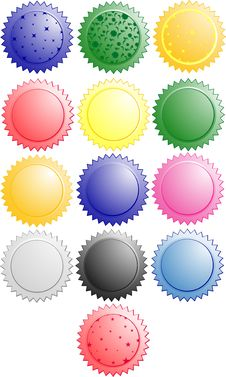 Free Web Badges,buttons Royalty Free Stock Photos - 5739368