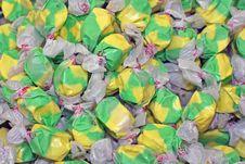 Free Colorful Green & Yellow Salt Water Taffy Stock Photos - 5739403