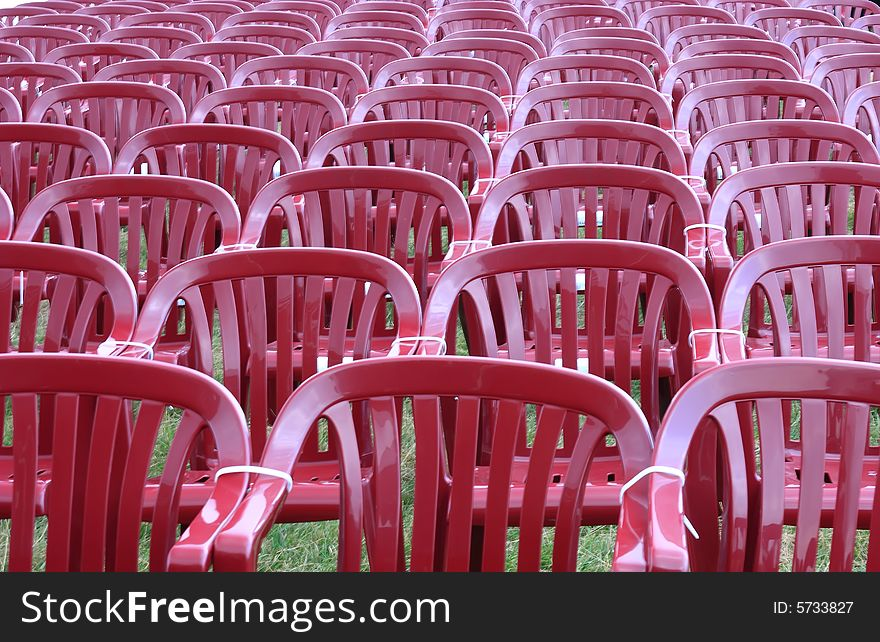 Audience red chairs