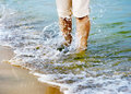 Free Female Legs With Sea Wave Royalty Free Stock Photos - 57330838