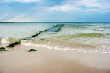 Free Beach With Breakwater Stock Images - 57331354
