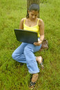 Free Woman & Laptop. Royalty Free Stock Photo - 5742695