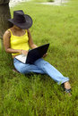 Free Woman & Laptop. Royalty Free Stock Photos - 5742888