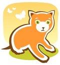 Free Cartoon Kitten Stock Photography - 5743542