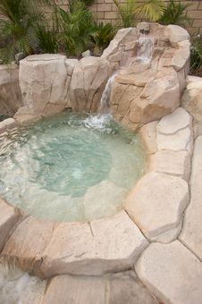 Tropical Custom Pool Jacuzzi Royalty Free Stock Images