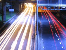 Free Highway At Night. Royalty Free Stock Photo - 5741975
