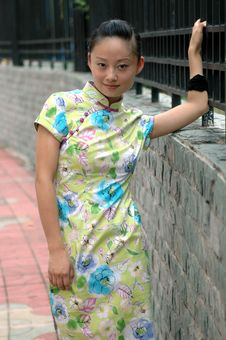 Free Chinese Girl On Sidewalk Royalty Free Stock Photos - 5742908