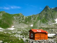Mountain Hut In Carpathians Stock Image