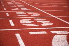 Free Finish Line Of Running Tracks Royalty Free Stock Photo - 5743345