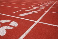 Finish Line Of Running Tracks Royalty Free Stock Photography