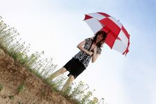 Free Umbrella Girl Royalty Free Stock Photos - 5743398