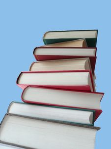 Free A Tower Of Books To The Sky Royalty Free Stock Photo - 5743575
