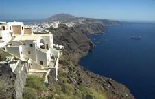 Santorini Coastline Stock Photos