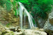Free The Beautiful Waterfall Djur Djur In Forest Stock Photos - 5744913