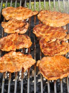 Free Barbecued Steak. Royalty Free Stock Photography - 5745007