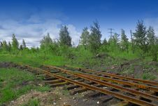 Rails Royalty Free Stock Photography