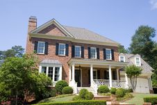 Free Brick Two Story With Porch Royalty Free Stock Photos - 5745838