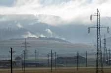 Free Power Lines And Mountains Stock Photography - 5746122