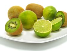 Free Fresh Kiwis And Ripe Limes Royalty Free Stock Images - 5746189